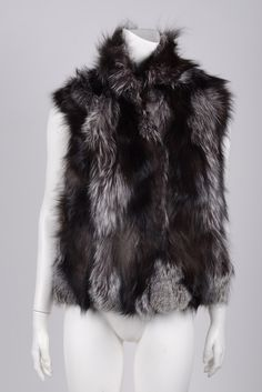 EDITION 01 Grey/Brown Fox Vest SzS/M – Crave Luxury Consignment