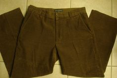 Banana Republic Men Corduroy Career Pants Size 34 X 32 Brown  #BananaRepublic #DressFlatFront