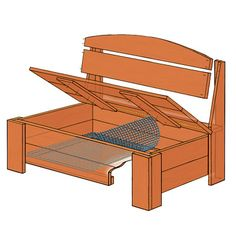 Illustration: Gregory Nemec | thisoldhouse.com | from How to Build a Bench With Hidden Storage