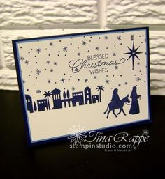 Stampin' Up! Night in Bethlehem stamp set, Stampin' Studio Stampin' Up! Night in Bethlehem stamp set, Stampin' Studio Chrismas Cards, Christmas Cards 2017, Religious Christmas Cards, Homemade Christmas Cards, Stampin Up Christmas, Xmas Cards, Simple Christmas, Holiday Cards, Greeting Cards