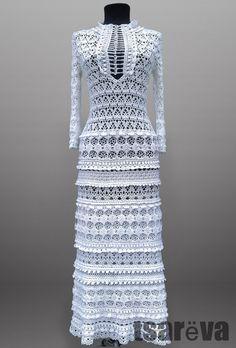 Eliza. Crochet dress for women vintage-style от TsarevaCrochet