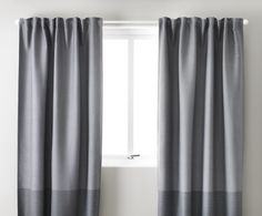 sanela curtains, 1 pair, gray-green | thick curtains, Deco ideeën