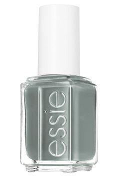 """Best fall nail colors:  """"I can't wait to bust out Essie's new dusty teal hue, """"Fall in Line."""" Usually I'm not one for funky colors, but I get excited thinking about my hands wrapped around a steaming Hot Toddy, my lambs' ear-colored digits poking out from an oversize Prabal knit. A girl can dream, can't she?""""-Justine Harman, features editor    $8.50; ulta.com"""
