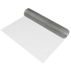 [pro.tec] Rete metallica (a 4 angoli)(1m x 25m)(zincato) rete saldata filo voliera rete metallica per recinzione 32,90 € Metallica