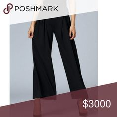 COMING SOON! Black Wide Leg Pants Chic wide leg pants in black. Pleated details in the front. Very cute fit. NOTE: Item tends to run small. Please see measurements below for most accurate fit. Add to bundle to save!   Small - Waist: 26.77, Length: 38.58 inches  Medium - Waist: 29.13, Length: 39.37 inches   XLarge - Waist: 33.86, Length: 40.94 inches Pants Wide Leg