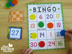 covering number on BINGO board with chip