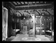 Arts and Crafts - George Logan Interior - 1901 - Inglenooks: built in seating around a fireplace.: