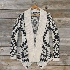 Sagelands Sweater in Cream, Sweet Navajo Inspired Clothing