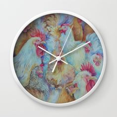 Roosters Wall Clock