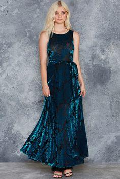 Burned Velvet Teal Floral Princess Maxi Dress - LIMITED ($130AUD) by BlackMilk Clothing