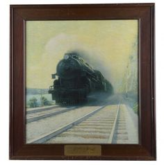 The Sunshine Special Rail Road Print In Frame : Lot 2156