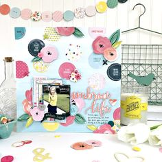 Heather Leopard: Top Ten of 2016 Embrace Life Scrapbook Layout More Than Love, Love You More, Little Flowers, Tiny Flowers, Scrapbook Page Layouts, Scrapbook Pages, Scrapbooking, Frame My Photo, Baby Journal
