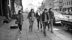 Carla Rotolo, Suze Rotolo, Karen Dalton, Bob Dylan and Dave Van Ronk walking down Hudson street between West Street and Christopher Street around am on a fall morning of 1963 Bob Dylan, Dylan Thomas, Dave Van Ronk, Jim Marshall, K Dick, Joan Baez, Street Dogs, Birthday Love, 30th Birthday
