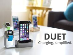 Duet Charger for iWatch and iPhone. #iphone #iwatch #watch #charging #station #apple
