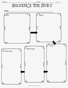 Classroom Freebies Too: Graphic Organizer Freebie. 3 free graphic organizers that can be used with any fiction picture book. Includes story map and 2 sequencing activities. Story Sequencing, Sequencing Activities, Reading Activities, Teaching Reading, Reading Strategies, Reading Skills, Reading Comprehension, Graphic Organizer For Reading, Graphic Organisers