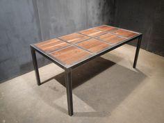 Wood set in steel