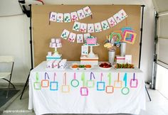 Art themed Happy Birthday party | Printable party decorations | Birthday Party Supplies from Paper & Cake