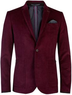 d35a80c99 Ted Baker Pitajak Corduroy Blazer in Red for Men - Lyst