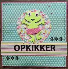 1 april... Opkikkertje Diy Cards, Handmade Cards, 1 April, Marianne Design, Stamping, Drawings, Creative, Crafts, Occupational Therapist
