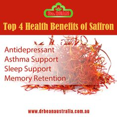 Top 4 Health Benefits of Saffron! Saffron Health Benefits, Australian Food, Healthy Eating, Herbs, Top, Eating Healthy, Herb, Healthy Food, Eating Well