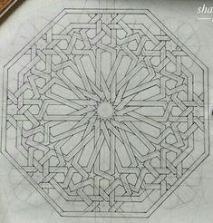 Geometric Drawing, Geometric Art, Islamic Art Pattern, Pattern Art, Middle Eastern Decor, Diy Tie Dye Shirts, Arabesque Pattern, Cutwork, Line Drawing