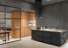 Dark Metal Kitchen By Minacciolo