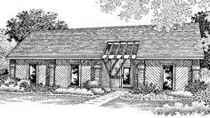 Eplans Contemporary-Modern House Plan - Three Bedroom Contemporary - 1200 Square Feet and 3 Bedrooms(s) from Eplans - House Plan Code HWEPL70503