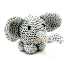 Crochet mini elephant! Jilly, the adorable mini elephant is ready to meet you! A tiny cute elephant made of cotton yarn and filled with polyester fiberfill. This adorable mini elephant is an ideal gift for birthdays, new born gift, baby shower, special occasions! Is also great