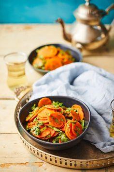 Marokkói klasszik répasaláta recept   Street Kitchen Kung Pao Chicken, Ratatouille, Healthy Recipes, Healthy Food, Chinese, Ethnic Recipes, Easy, Kitchen, Cook Books
