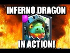 Inferno Dragon In Action - Clash Royale