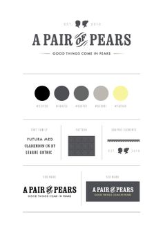 brand identity | presentation | palette | design elements | #logolovin //  A Pair of Pears: A Pair of Pears Branding
