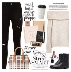"""Work Hard, Play Hard: Finals Season"" by martinabb on Polyvore featuring Kate Spade, Charlotte Russe, Diophy and Avon"