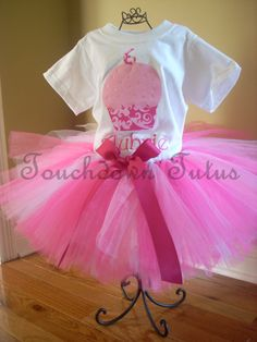 Cupcake birthday tutu outfit by TouchdownTutus on Etsy, $44.00