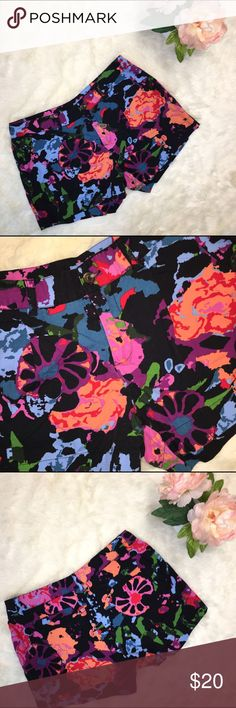 ☀️Thakoon for Target Floral Shorts Thakoon for Target Floral Shorts with black background and brightly colored abstract Floral designs. Thakoon Shorts