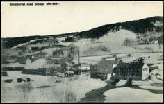 MERÅKER i Nord-Trøndelag fylke. Smelteriet med omegn Ca 1900