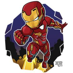 Genius billionaire inventor, industrialist, and CEO of Stark Industries Tony Stark builds an armored suit and becomes the armor-clad superhero named Iron Man. Marvel Dc Comics, Marvel Avengers, Chibi Marvel, Avengers Cartoon, Marvel Cartoons, Marvel Art, Marvel Heroes, Iron Man Kunst, Iron Man Art