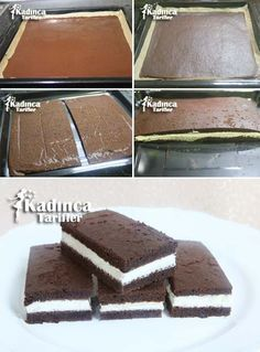 Easy Cake : Milk Slice recipe, how to, Food Cakes, Funfetti Kuchen, Pasta Cake, Cake Recipes, Dessert Recipes, Foundant, Most Delicious Recipe, Recipe Sites, Turkish Recipes