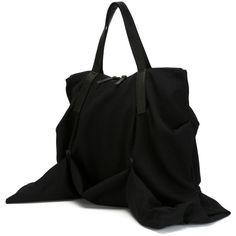 Yohji Yamamoto Draped Tote (6 760 SEK) ❤ liked on Polyvore featuring bags…