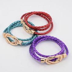 PandaHall Jewelry—Fashionable Three Wraps Imitation Leather Cord Bracelets | PandaHall Beads Jewelry Blog