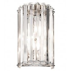Kichler - 42175CH - Crystal Skye 2 Light Chrome Halogen Wall Sconce $371.80 Lamps.com
