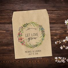 Seed Packet Favors Wedding Seed Packets Flower by MinikinGifts