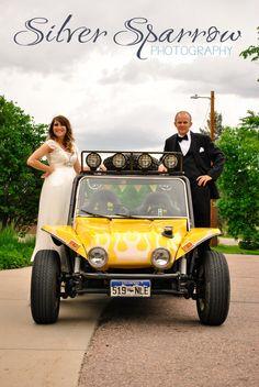 Doon Buggy Get Away Car! Fun summer wedding in Littleton Colorado by Silver Sparrow Photography LLC - www.SilverSparrowPhoto.com