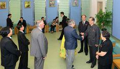조선로동당 중앙위원회 부위원장 최태복동지가 제10차 평양국제과학기술도서전람회에 참가하고있는 대표단 단장,대표들을 만났다