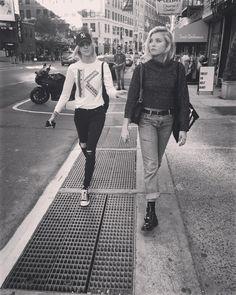 "Rachel Hilbert on Instagram: ""Don't mess with us  @devwindsor"""