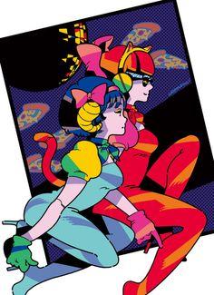Discover the art of Utomaru, Cartoon Brew's Artist of the Day. Illustration Tumblr, Japanese Illustration, Graphic Illustration, Japanese Pop Art, Character Art, Character Design, Alien Art, Graffiti, Retro Futurism