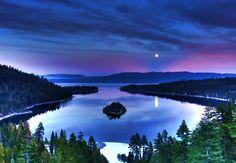 Full Moon at Emerald Bay CA