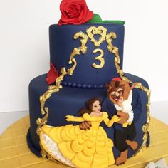 Beauty and the beast birthday cake ideas 1 fantastical cakes popsugar moms. Beauty And The Beast Cake Birthdays, Beauty And Beast Birthday, Beauty And The Beast Theme, Disney Beauty And The Beast, 4th Birthday Parties, Birthday Cakes, Belle Birthday Cake, 3rd Birthday, Belle Cake