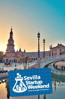 Sevilla Startup Weekend Aerospace, a special edition of the Sevilla Startup Weekend, launches this weekend for 54 hours of teams coming up with new startup ideas to propel the aerospace industry and they have nice event logo stickers to commemorate it.