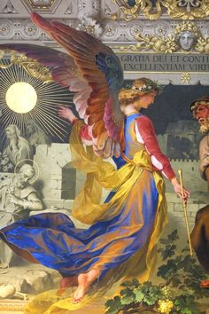 Venite Adoremus Dominum (Art in the Vatican Museum). Again, I'm loving the vibrant colors. I think that this lady represents a new change. She is the color in a dark world.