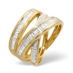 Diamond Essentials 0.85 Ct Diamond Ring In 9 Carat Yellow Gold From the Diamond Essentials collection in 9 Carat Yellow Gold. Ladies. Presented in a Contemporary hardwood gift box. Our price: pound